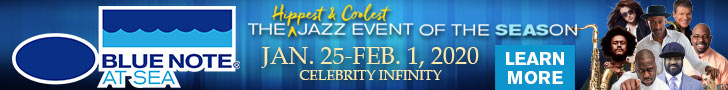 ad for Blue Note at Sea cruise, January 25-February 1, 2020