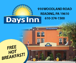 Ad for Days Inn, Reading, PA
