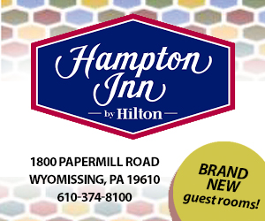 Ad for Hampton Inn by Hilton, Wyomissing, PA