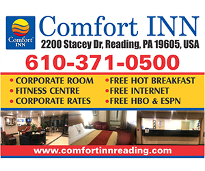 Ad for Comfort Inn, Reading: 610-371-0500