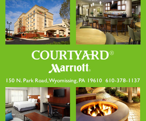 Ad for Courtyard Marriot, Reading, PA